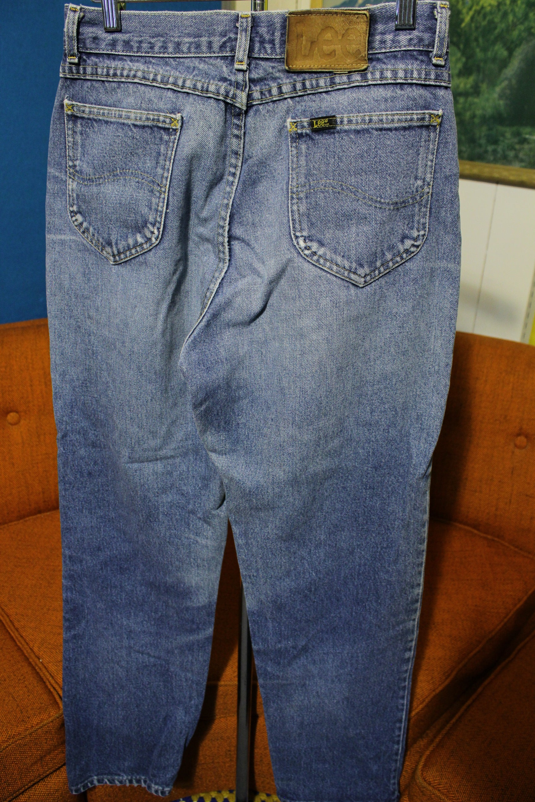 Lee Riders Blue Jeans Vintage Denim 1980's Made In USA 27x30 Grunge Nirvana