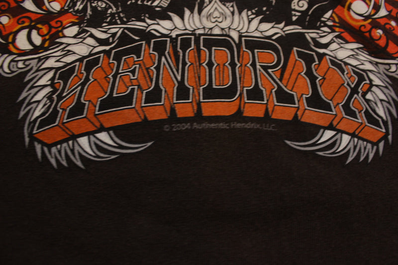 Jimi Hendrix 2004 Brown Authentic Experience Band T-Shirt
