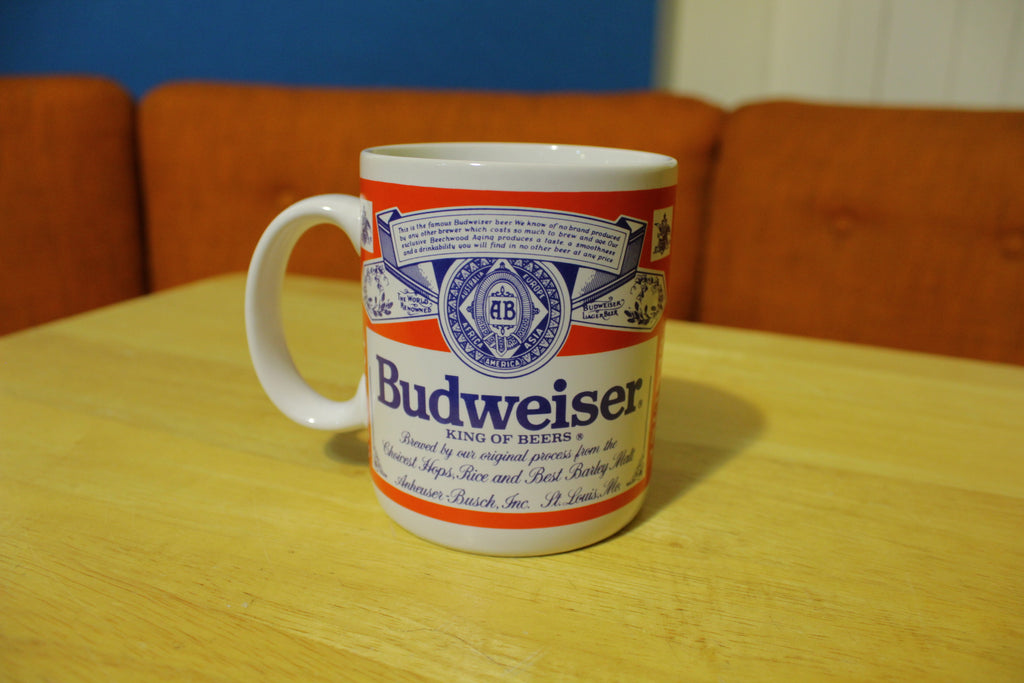 Budweiser Vintage 80s Coffee Mug Anheuser Busch /Official Product