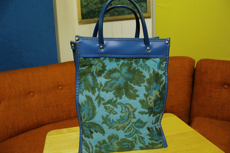 1960's 1970's Vintage Fabric Floral Small Handbag