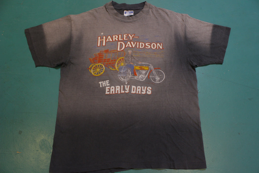 Harley Davidson Motorcycles The Early Days Hanes USA Vintage 80's Single Stitch T-Shirt