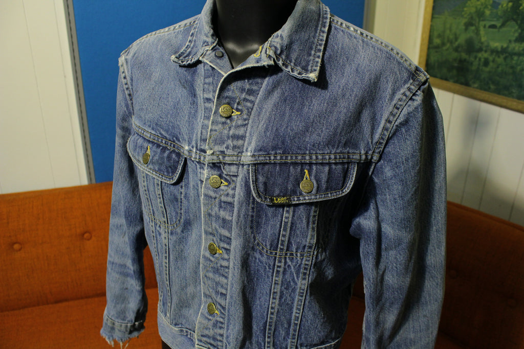 c037170a Lee Riders Vintage 70s Jean Jacket Black Label Made in USA 153438 Patd
