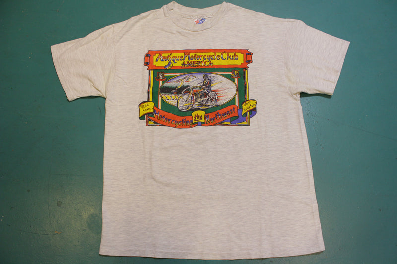 Motorcycling the Northwest Antique Club Hanes USA Vintage 80's Single Stitch T-Shirt