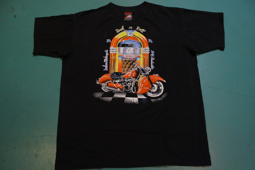 Indian Motorcycle 1946 Roadmaster 1993 Vintage 90's Single Stitch USA T-Shirt