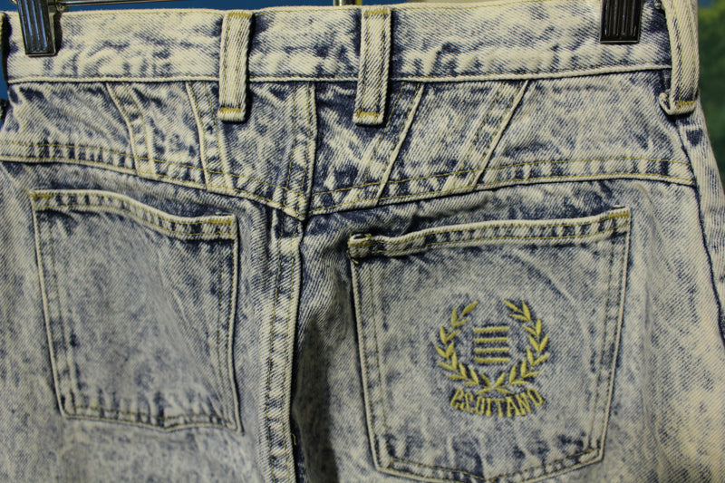 Gitano PS Jeans High Waist Acid Wash Sz 27x26 Long Vtg 80s Tapered Leg Mom