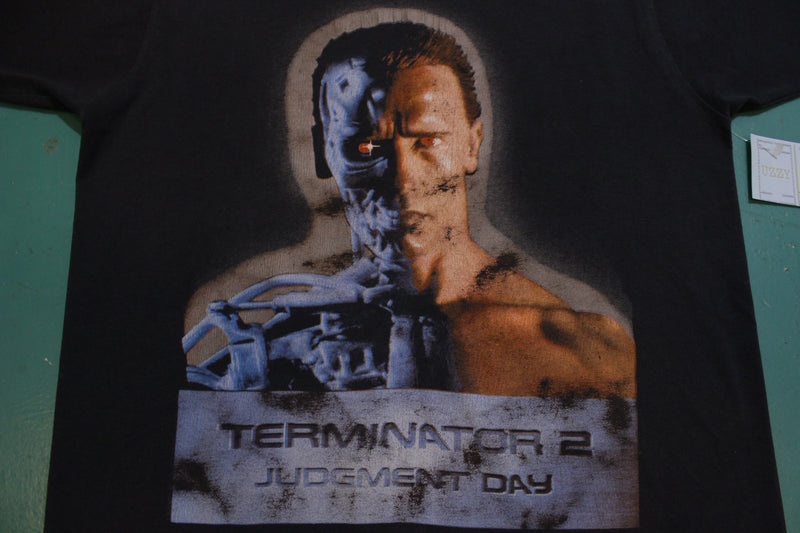 Terminator 2 Judgement Day Half Droid Face Single Stitch Screen Stars USA Vintage T-Shirt