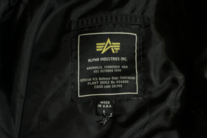 Alpha Industries VTG Jacket Flyer's CWU-45/P (N) Black Bomber Flight Coat USA