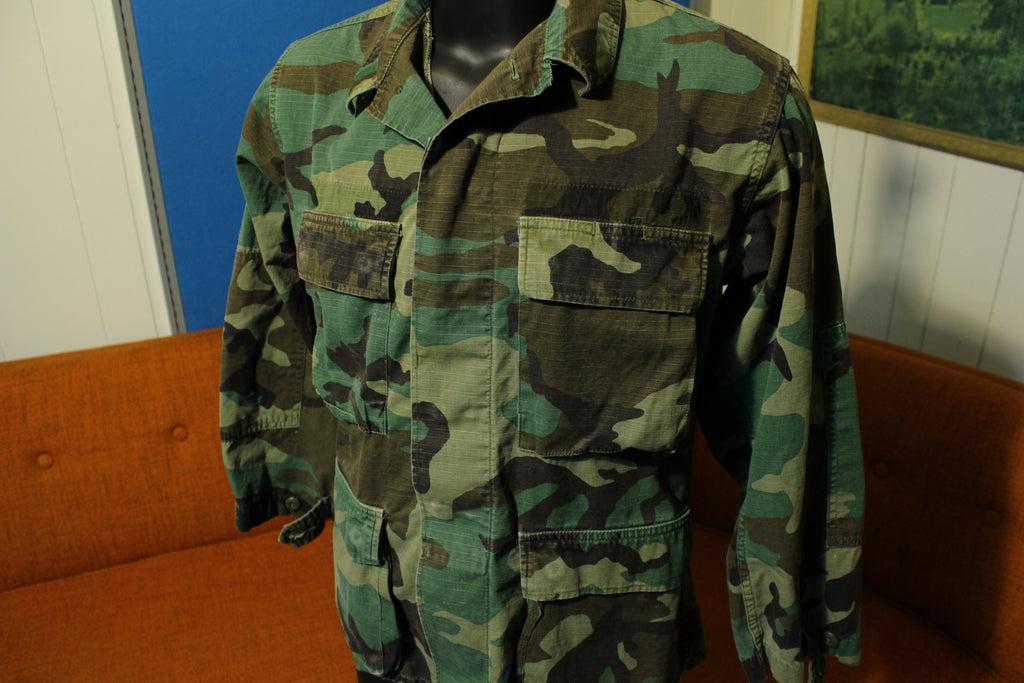 Woodland Camo Hot Weather Combat Coat US Army Military Issue DLA100 Small