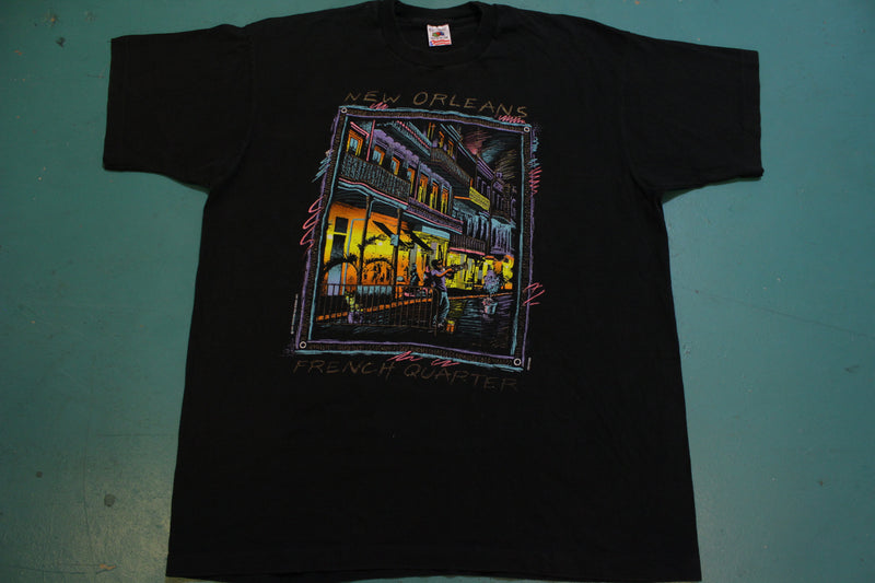New Orleans Historic French Quarter 1991 90s Single Stitch FOTL T-Shirt