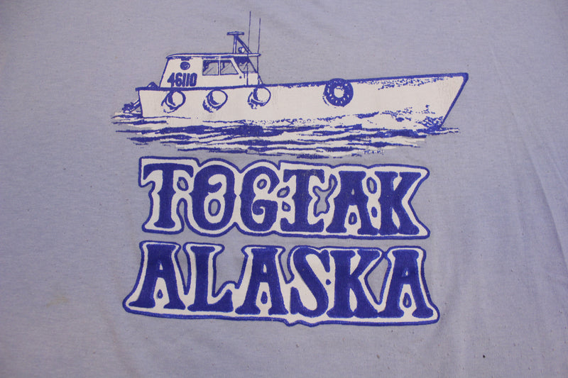 Togiak Alaska Vintage 46110 Boat Ship Single Stitch 80's T-Shirt