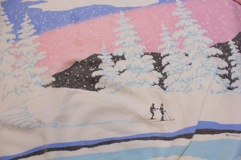 Cross Country Skiing Vintage Lifestyles 80's Crewneck Sweatshirt