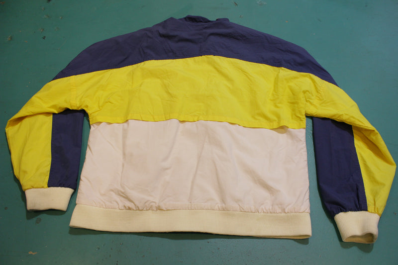 The Fox Collection 90's Vintage Color Block Windbreaker
