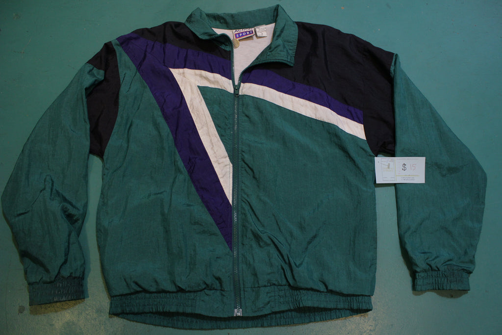 Action Sport 90's Vintage Color Block Windbreaker
