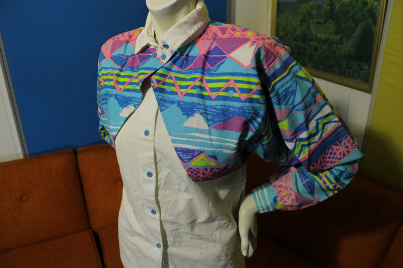 Roper Vintage Western Vibrant Colors 90s Button Flap Canopy Cowboy Shirt Women's