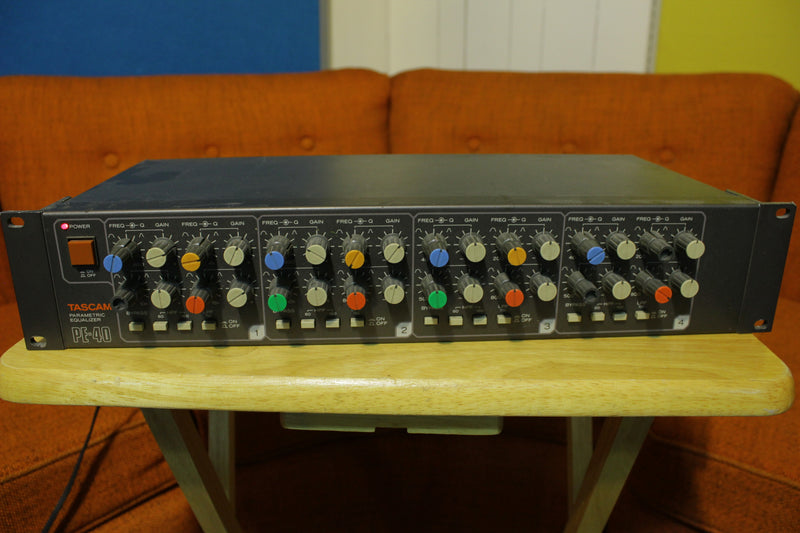 Tascam PE-40 Parametric EQ 1980's 4 Channel Rack Mount Equalization Unit.