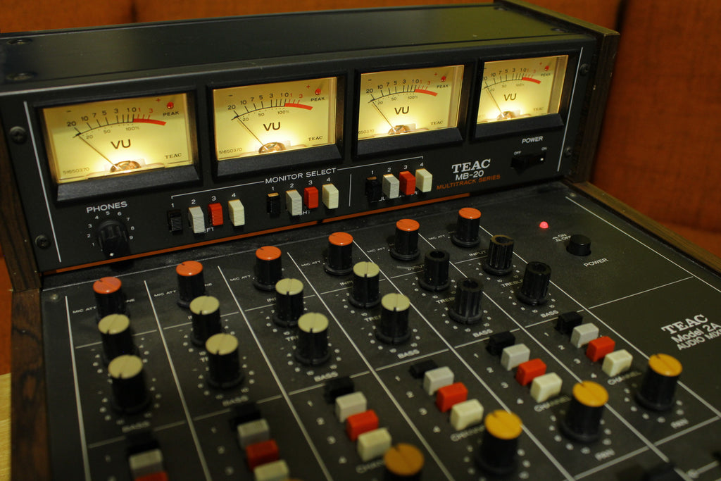 Teac 2A 1978 Mixer With MB-20 Meter Bridge. Vintage 70's Analog.