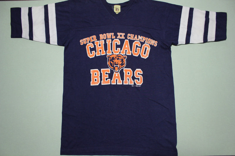 Chicago Bears Vintage Super Bowl XX Champions 1985 80s Logo 7 T-Shirt Jersey