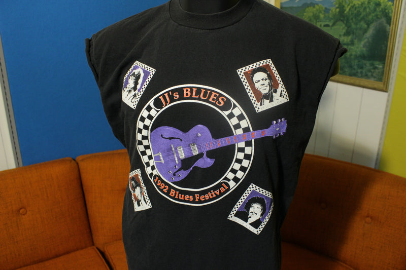 Elvin Bishop Roy Rogers 1992 Blues Festival JJ Blues Vintage 90's T-Shirt Concert Tee