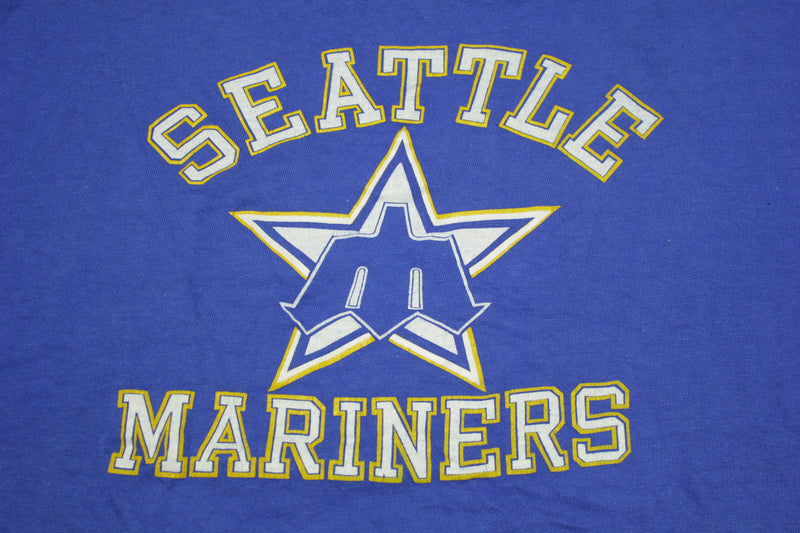 Seattle Mariners Vintage 80's Hanes Beefy Single Stitch Old Logo USA T-Shirt