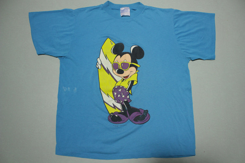Mickey Mouse Vintage AMI Surf Beach 80's Single Stitch T-Shirt