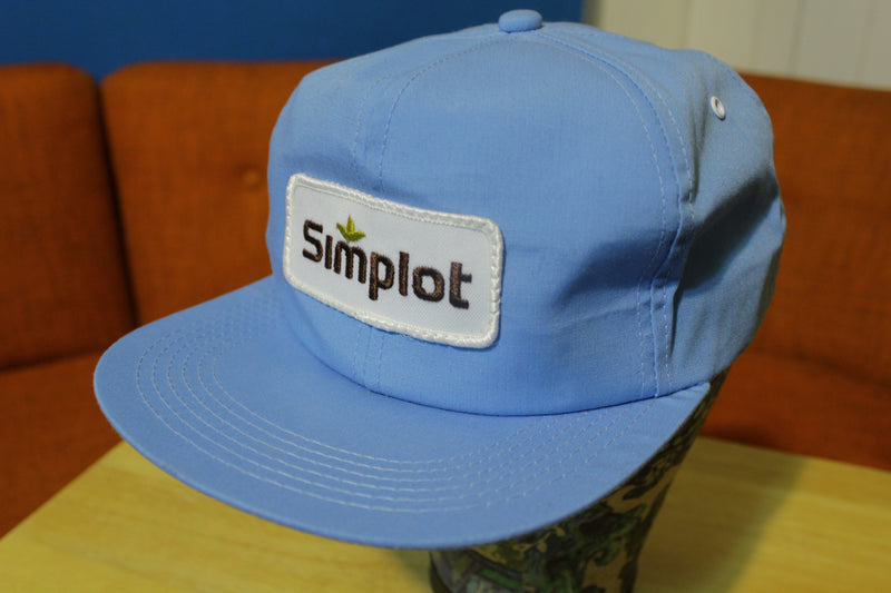Simplot Patch Snapback Farmer Trucker's Hat Cap K-BRAND Vintage 70's NEW!