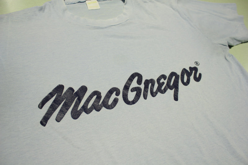 MacGregor Vintage Soft Thin Single Stitch USA Made Sportswear 80s T-Shirt