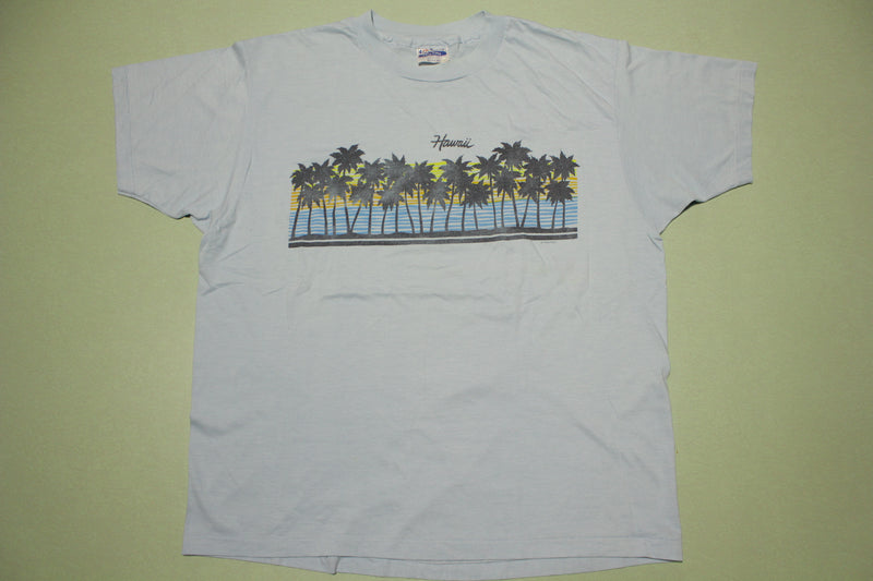 Hawaii Vintage Beach Sunset Classic Single Stitch 80's  Hanes USA T-Shirt
