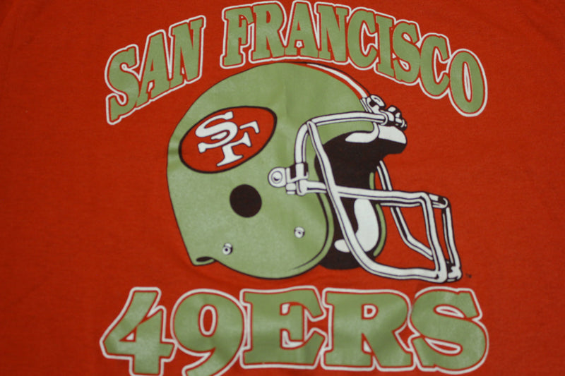 San Francisco 49ers Vintage Deadstock Mint 80's Trench USA Single Stitch T-Shirt