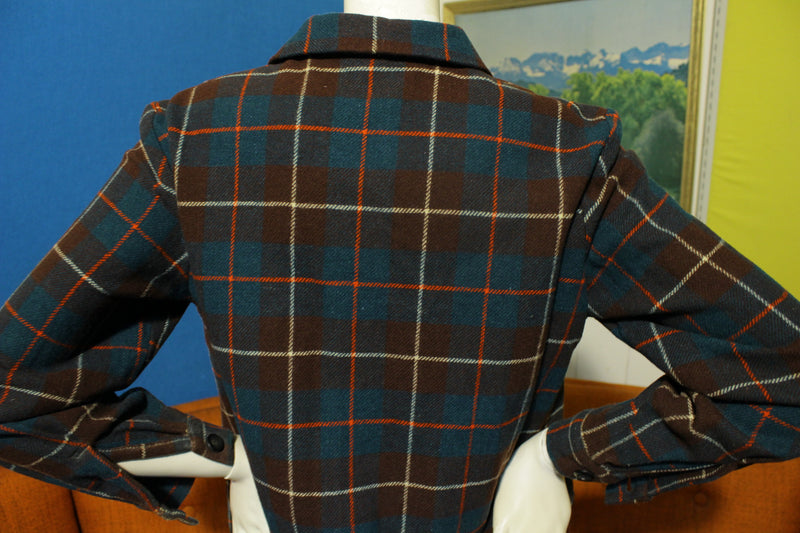 Deacon Brothers Limited Belleville Pure Wool Plaid Flannel Chore Jacket Vtg 50's