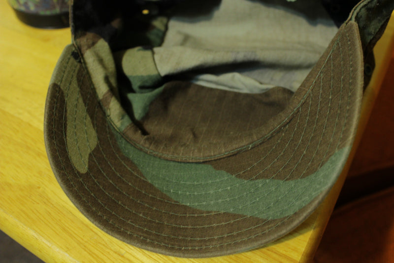 Authentic Army Military Woodland Camo Hot Weather Patrol Field Cap 7 1/8