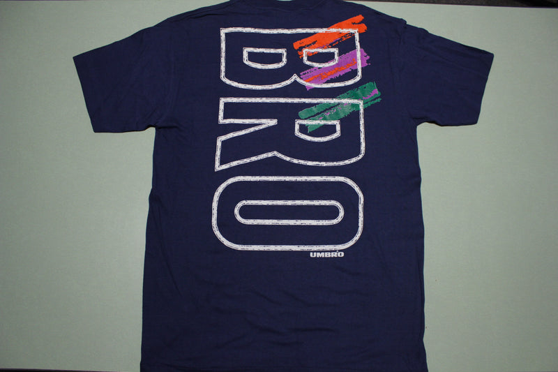 BRO Vintage Deadstock 90's Umbro NWT Mint Crisp Made in USA Single Stitch T-Shirt