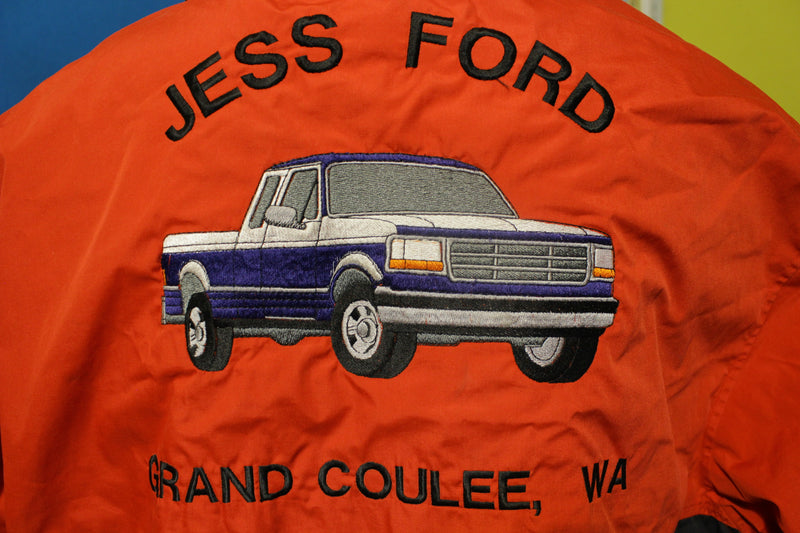 1996 Jess Ford F150 Dealership Embroidered Jacket. Vintage 90's Grand Coulee