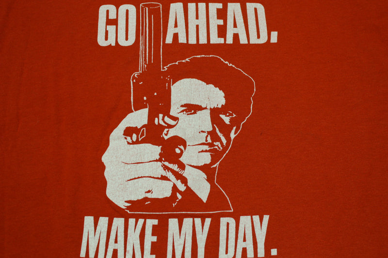 Sudden Impact Go Ahead Make My Day Vintage 80s Clint Eastwood Movie T-Shirt