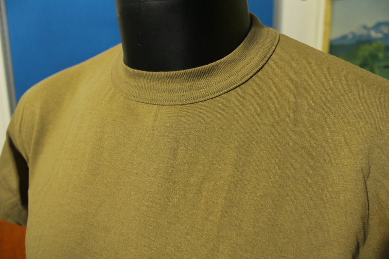 Soffe Made In USA Blank Brown Tee Shirt T-shirt.  Vintage Soft and Thin.