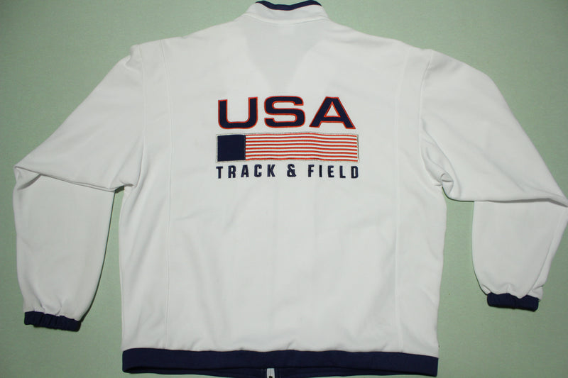 USA Track & Field Vintage 90s Nike Deadstock NWOT Olympic White Track Jacket