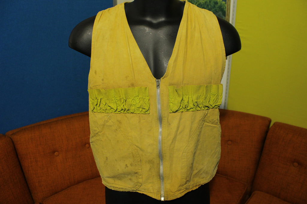 Westernfield Montgomery Ward Shooting Hunting Vest 40's 50's Flannel Lined