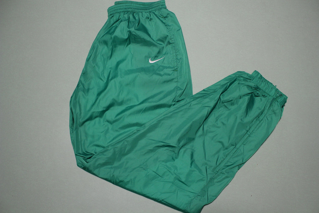 Nike Vintage White Tag 90's Green Track Jogging Windbreaker Pants