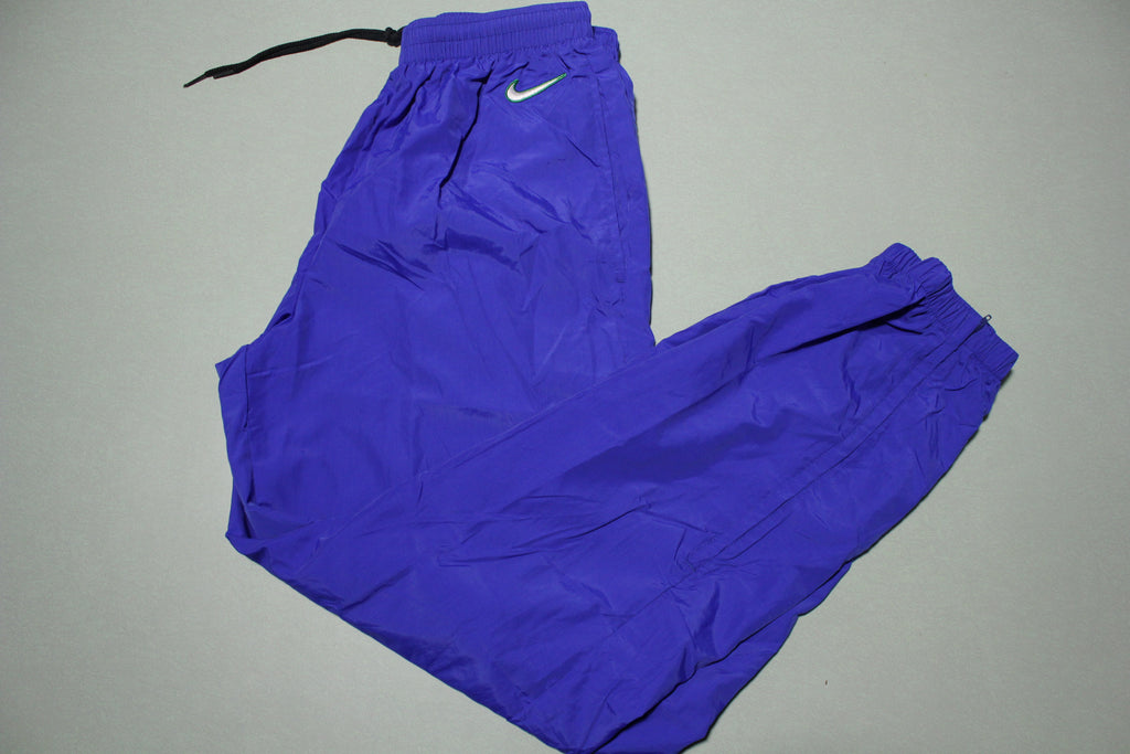 Nike Vintage White Tag 90's Blue USA Made Track Jogging Windbreaker Pants