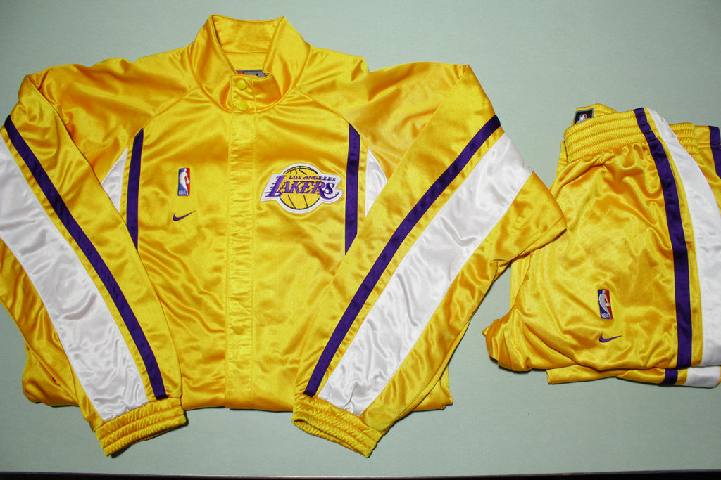 Los Angeles Lakers Vtg 90s Nike Team Issue 1999-00 Warm Up Jacket Pants Suit