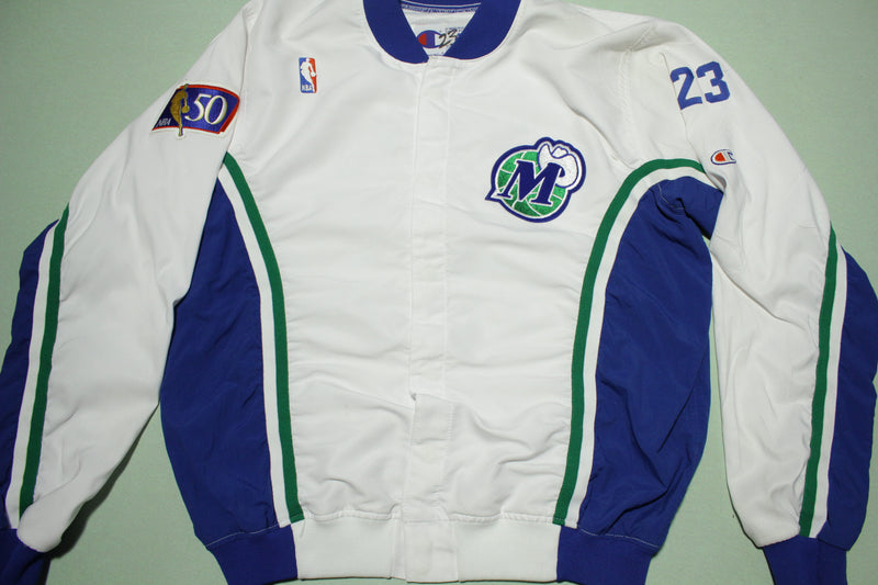 Dallas Mavericks Vtg 90s Champion Nike Team Issue 1997-98 Warm Up Jacket Pants Suit