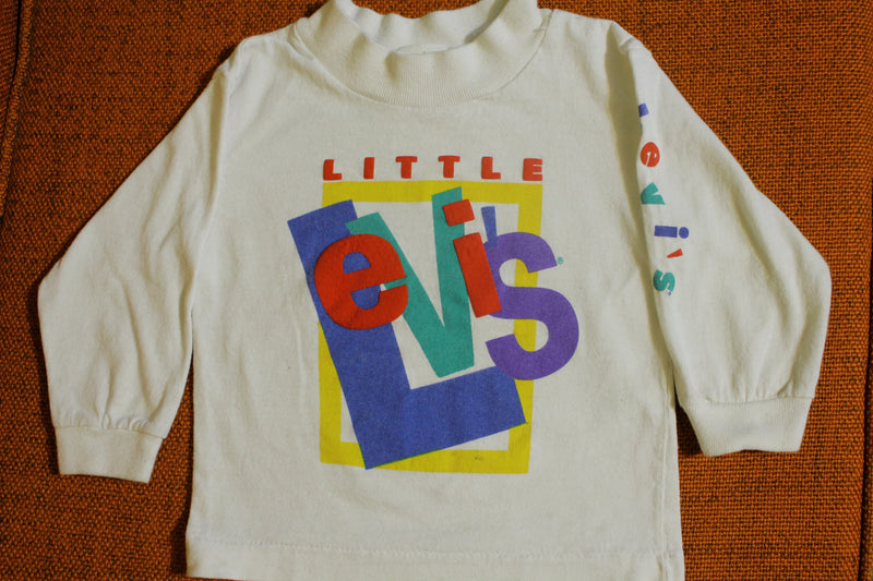 Little Levis 18 Month Youth Size Vintage 80's Made in USA Long Sleeve T-Shirt