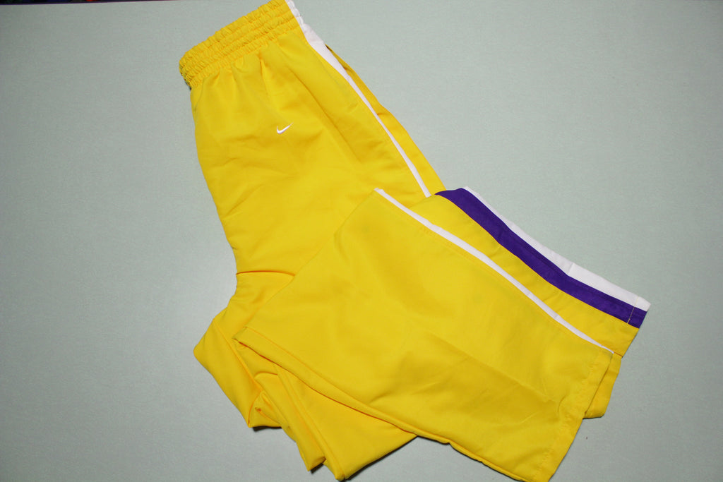 Los Angeles Lakers Vintage 90s Nike Team Game Issue 1997-98 NWOT Warm Up Pants