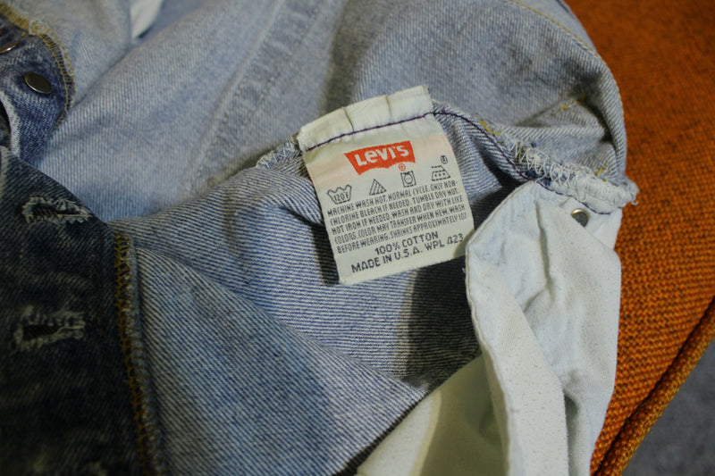90s Levis 501 Button Fly Jeans. Vintage Grunge Punk Made in USA 501xx 32 x 31