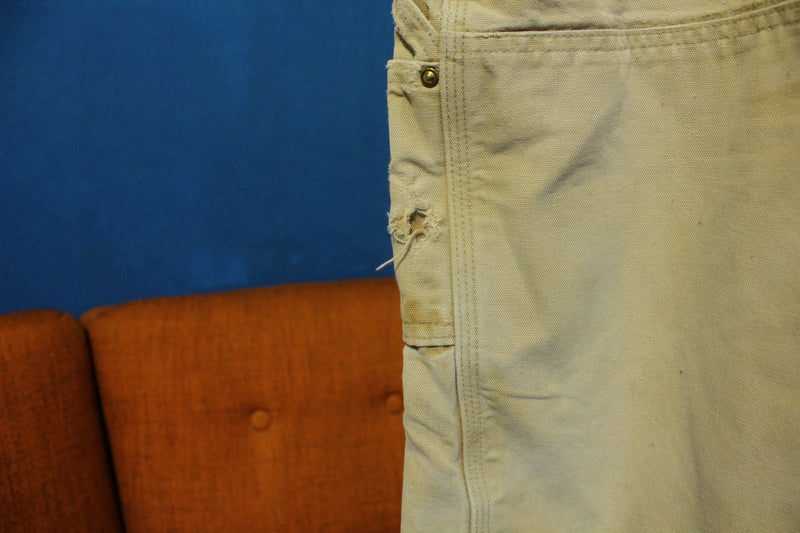 Lot 3 Carhartt B01 38x30 Washed Duck Work Pants USA Made Distressed Skoal Ring