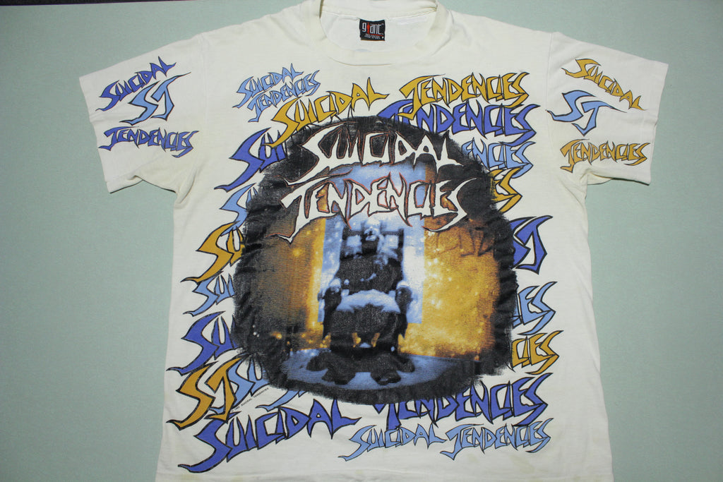 Suicidal Tendencies 1992 All Over Print 90's Giant Tag You Can't Bring Me Down T-Shirt