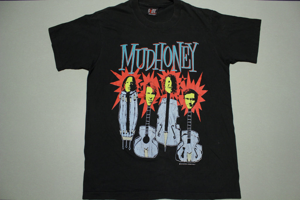 Mudhoney 1993 Giant Tag Seattle Grunge Single Stitch USA 90's Instrument Faces T-Shirt