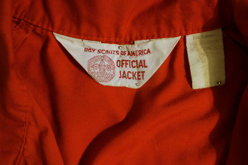 BOY SCOUTS OF AMERICA Vtg 60's Red Official Jacket Size M BSA Arrow Patch
