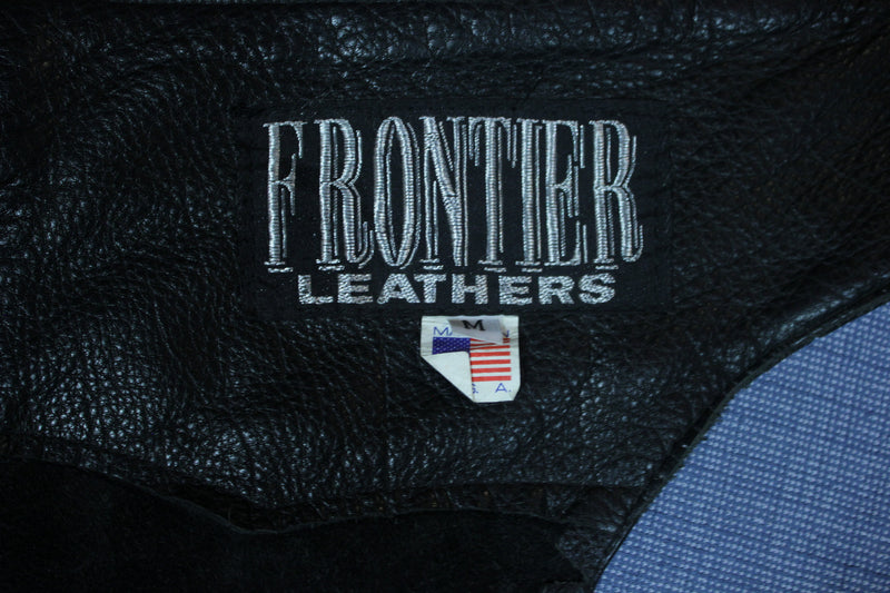 Frontier Vintage USA Made Ass Less Leather Chaps Motorcycle Biker Pants Riding