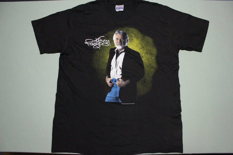 Kenny Rogers Country Legend 1989 Vintage Single Stitch Hanes USA T-Shirt