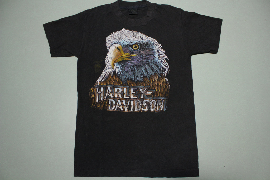 3D Emblem Dave Gardner Bald Eagle Art Harley Davidson Vintage Single Stitch T-Shirt